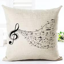 high quality fashion style cotton linen cushion music score print