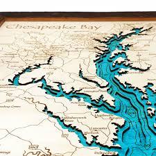 Potomac River On Map Chesapeake Bay Md Va 3 D Nautical Wood Map 16