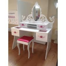 coiffeuse chambre fille coiffeuse avec miroir baroque bambinos