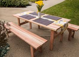 stylish picnic table with benches popular csublogs com