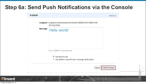 amazon black friday notification engage your customers with amazon sns mobile push mbl308 aws re i u2026