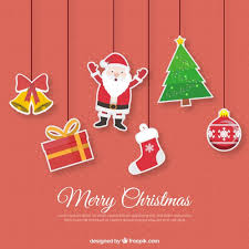 christmas ornaments with funny style vector free download