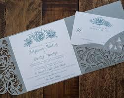 wedding invitations laser cut laser cut invitation etsy