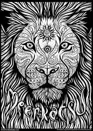 meerkatsu art u2013 lion colouring zentangles