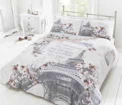 28 paris bed linen paris in love double size quilt duvet