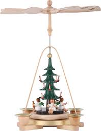 1 tier pyramid angel with christmas tree 28 cm 11in by richard