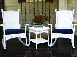 Resin Patio Table And Chairs White Resin Rocking Chair Image Of Cozy White Resin Patio Side
