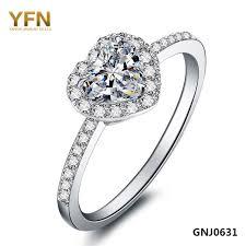 Heart Shaped Wedding Rings by Aliexpress Com Buy Sweet Love Romantic 925 Sterling Silver Heart