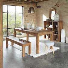 maison du monde küche mesa de comedor de madera de maciza de palo rosa an 180 cm