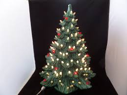 large 22 lighted ceramic tree white bulbs