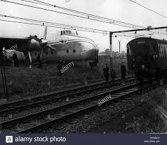 aug 08 1957 plane goes off the runway on to the railway
