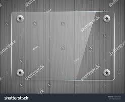 Transparent Glass Plate Mock Up Grey Stock Vector 613454306
