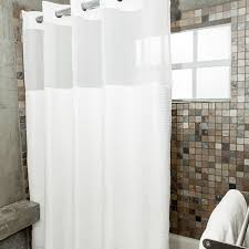 Fabric Drapes Cologne Fabric Shower Curtain With Poly Taffeta Flocking White