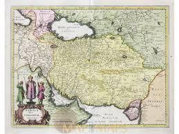 Persia Map Sive Sophorum Regnum Old Map Persia Merian 1638