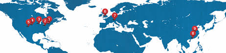 Europe Asia Map Locations Arnold Magnetic Technologies