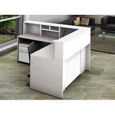 Mobile Reception Desk Contemporary Office Reception Center Easy Assembly Ready To Use