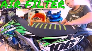 how to clean oil or change dirt bike air filter kx450f enduro