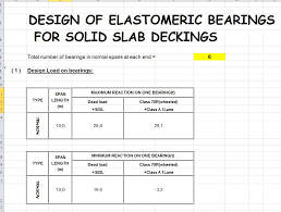 Construction Take Off Spreadsheets Design Of Elastomeric Bearings Wirth Spreadsheet Civil