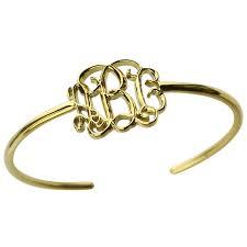 monogram bracelet gold wholesale 3d monogram bracelet gold color personalized 3d initial