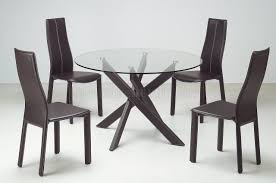 Clear Dining Chairs Round Clear Glass Modern Dining Table