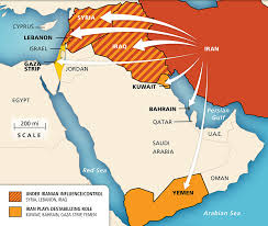 map iran maps iran s regional influence aipac org
