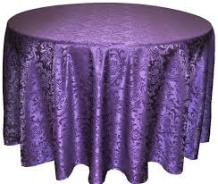 eggplant colored table linens table cloth 120 eggplant poly damask round linens and events