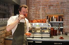 A Candid Interview With Chef - charlie bird chef ryan hardy espresso in the kitchen