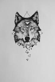 geometric wolf tattoos geometric