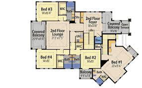 House Plans With Master Suite On Second Floor Plan 31822dn Four Second Floor Balconies Balconies