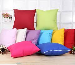 Colorful Sofa Covers Home Sofa Throw Pillowcase Pure Color Polyester White Pillow Cover