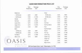 how much does laser hair removal cost on back laser hair removal price list twin city plastic surgery