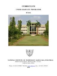 nitk ug curriculum 2014 1 academic term course credit