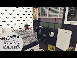 Teen Boy Bedroom Teen Boy Bedroom The Sims 4 Speed Build Youtube