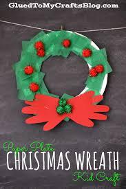 paper plate christmas wreath kid craft christmas wreaths