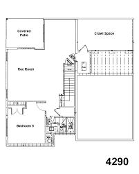 5 bedroom open floor plans 4290 floorplan