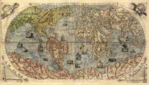 Usps First Class Shipping Time Map 1565 Historic Large World Map Decorative Print 14x24 Ebay