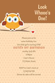Birthday Invitation Card Maker Personal Ideas Invitations Cards Incredible Designing Owl Picture