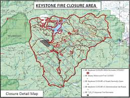 Wyoming Wildfires Map Keystone Fire Closure Area Hits 106