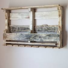 amazon com pallet wine rack wall mounted made from rustic