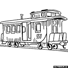 coloring page train car caboose coloring page caboose train car coloring drawing lessons