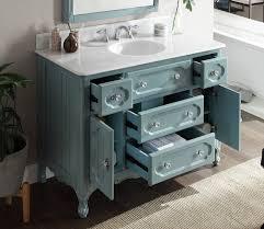 light blue knoxville bathroom sink vanity w mirror gd 1522bu 48mir