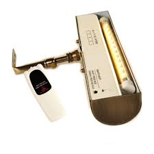 antique brass with silver tone cordless led remote