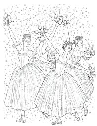 nutcracker coloring page coloring pages for young dancers