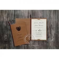 Rustic Invitations Fingerprint Wedding Invitation Rustic Craft Card Stock