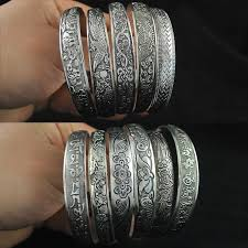bracelet style vintage images Yumfeel new vintage style tibetan silver metal carving cuff jpg