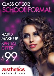 hair and makeup school modern feminine poster design for aesthetics salon spa by onik