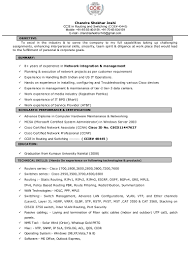 Sample Resume For Ccna Certified Ccna Cv Template Virtren Com