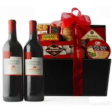 best wine gift baskets gourmet gift basket weve paired a cabernet and merlot from