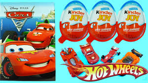 kinder joy surprise eggs for boys disney pixar cars 2 wheels
