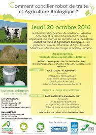 chambre agriculture 87 comment concilier de traite et agriculture biologique ardennes